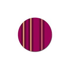 Stripes Background Wallpaper In Purple Maroon And Gold Golf Ball Marker by Simbadda