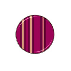 Stripes Background Wallpaper In Purple Maroon And Gold Hat Clip Ball Marker (10 Pack) by Simbadda