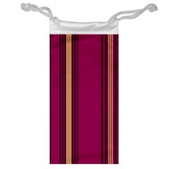 Stripes Background Wallpaper In Purple Maroon And Gold Jewelry Bag by Simbadda