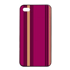 Stripes Background Wallpaper In Purple Maroon And Gold Apple Iphone 4/4s Seamless Case (black) by Simbadda