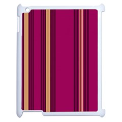 Stripes Background Wallpaper In Purple Maroon And Gold Apple Ipad 2 Case (white) by Simbadda