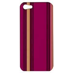 Stripes Background Wallpaper In Purple Maroon And Gold Apple Iphone 5 Hardshell Case