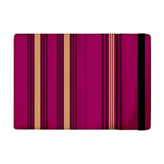 Stripes Background Wallpaper In Purple Maroon And Gold Apple Ipad Mini Flip Case by Simbadda