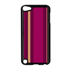 Stripes Background Wallpaper In Purple Maroon And Gold Apple Ipod Touch 5 Case (black) by Simbadda