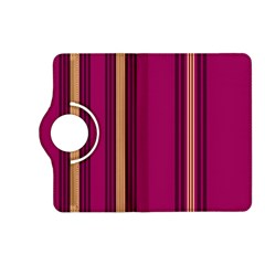 Stripes Background Wallpaper In Purple Maroon And Gold Kindle Fire Hd (2013) Flip 360 Case by Simbadda