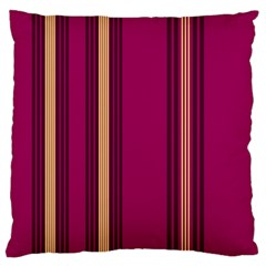 Stripes Background Wallpaper In Purple Maroon And Gold Standard Flano Cushion Case (two Sides) by Simbadda