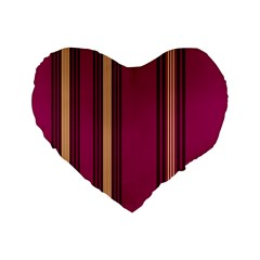 Stripes Background Wallpaper In Purple Maroon And Gold Standard 16  Premium Flano Heart Shape Cushions by Simbadda