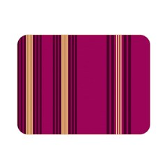 Stripes Background Wallpaper In Purple Maroon And Gold Double Sided Flano Blanket (mini)  by Simbadda