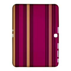 Stripes Background Wallpaper In Purple Maroon And Gold Samsung Galaxy Tab 4 (10 1 ) Hardshell Case