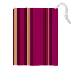 Stripes Background Wallpaper In Purple Maroon And Gold Drawstring Pouches (xxl) by Simbadda