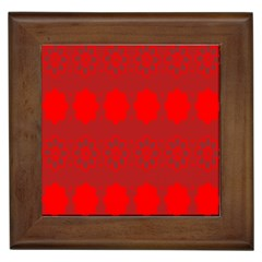 Red Flowers Velvet Flower Pattern Framed Tiles by Simbadda