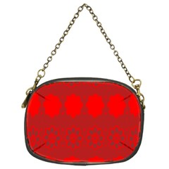Red Flowers Velvet Flower Pattern Chain Purses (two Sides)  by Simbadda