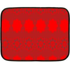 Red Flowers Velvet Flower Pattern Fleece Blanket (mini) by Simbadda