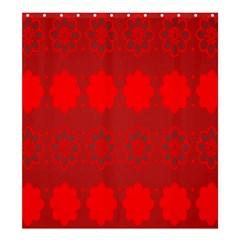 Red Flowers Velvet Flower Pattern Shower Curtain 66  X 72  (large)  by Simbadda