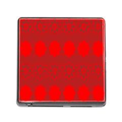 Red Flowers Velvet Flower Pattern Memory Card Reader (Square)