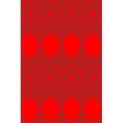 Red Flowers Velvet Flower Pattern 5 5  X 8 5  Notebooks by Simbadda