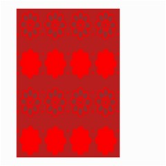 Red Flowers Velvet Flower Pattern Small Garden Flag (two Sides) by Simbadda
