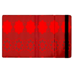 Red Flowers Velvet Flower Pattern Apple Ipad 3/4 Flip Case by Simbadda