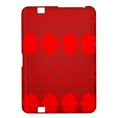 Red Flowers Velvet Flower Pattern Kindle Fire Hd 8 9  by Simbadda
