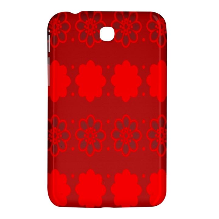 Red Flowers Velvet Flower Pattern Samsung Galaxy Tab 3 (7 ) P3200 Hardshell Case