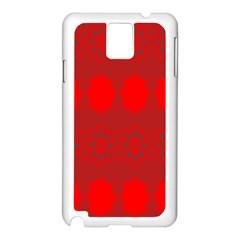 Red Flowers Velvet Flower Pattern Samsung Galaxy Note 3 N9005 Case (White)