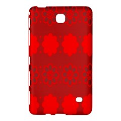 Red Flowers Velvet Flower Pattern Samsung Galaxy Tab 4 (8 ) Hardshell Case  by Simbadda