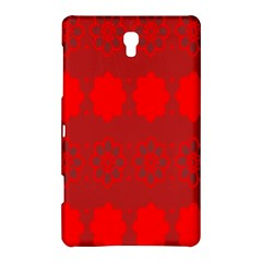 Red Flowers Velvet Flower Pattern Samsung Galaxy Tab S (8 4 ) Hardshell Case  by Simbadda