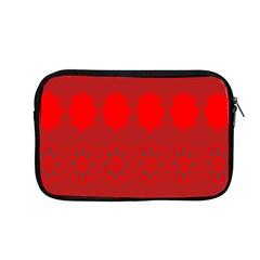 Red Flowers Velvet Flower Pattern Apple Macbook Pro 13  Zipper Case by Simbadda