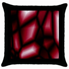 Red Abstract Background Throw Pillow Case (black) by Simbadda