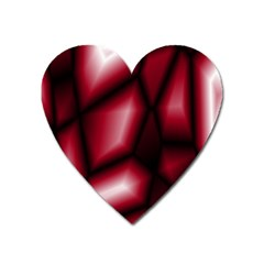 Red Abstract Background Heart Magnet by Simbadda