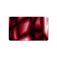 Red Abstract Background Magnet (name Card) by Simbadda