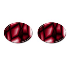 Red Abstract Background Cufflinks (oval) by Simbadda