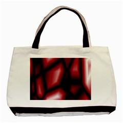 Red Abstract Background Basic Tote Bag by Simbadda