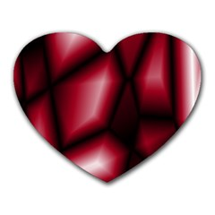 Red Abstract Background Heart Mousepads by Simbadda