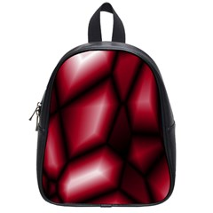 Red Abstract Background School Bags (small)  by Simbadda