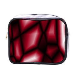 Red Abstract Background Mini Toiletries Bags by Simbadda