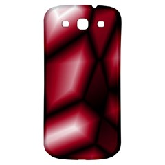 Red Abstract Background Samsung Galaxy S3 S Iii Classic Hardshell Back Case by Simbadda