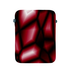 Red Abstract Background Apple Ipad 2/3/4 Protective Soft Cases by Simbadda