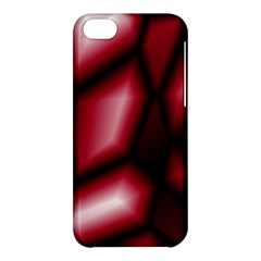 Red Abstract Background Apple Iphone 5c Hardshell Case by Simbadda