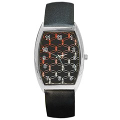 Cadenas Chinas Abstract Design Pattern Barrel Style Metal Watch by Simbadda