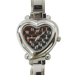 Cadenas Chinas Abstract Design Pattern Heart Italian Charm Watch by Simbadda