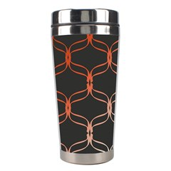 Cadenas Chinas Abstract Design Pattern Stainless Steel Travel Tumblers by Simbadda