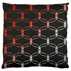 Cadenas Chinas Abstract Design Pattern Large Flano Cushion Case (Two Sides) by Simbadda