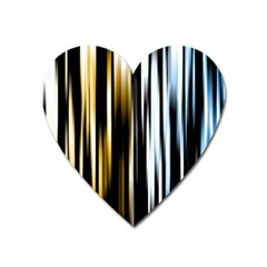 Digitally Created Striped Abstract Background Texture Heart Magnet by Simbadda