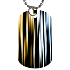 Digitally Created Striped Abstract Background Texture Dog Tag (two Sides) by Simbadda