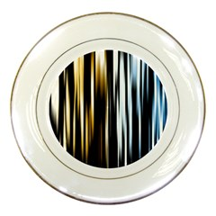 Digitally Created Striped Abstract Background Texture Porcelain Plates by Simbadda