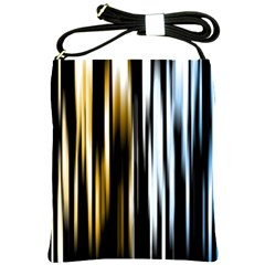 Digitally Created Striped Abstract Background Texture Shoulder Sling Bags by Simbadda