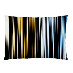 Digitally Created Striped Abstract Background Texture Pillow Case (two Sides) by Simbadda