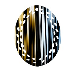 Digitally Created Striped Abstract Background Texture Ornament (oval Filigree) by Simbadda