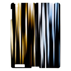 Digitally Created Striped Abstract Background Texture Apple Ipad 3/4 Hardshell Case by Simbadda
